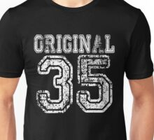 Original 35 2035 1935 T-shirt Birthday Gift Age Year Old Boy Girl Cute Funny Man Woman Jersey Style Unisex T-Shirt