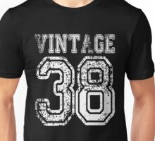 Vintage 38 2038 1938 T-shirt Birthday Gift Age Year Old Boy Girl Cute Funny Man Woman Jersey Style Unisex T-Shirt
