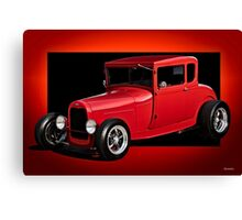 1928 Ford Coupe 'Perfection in Red' I Canvas Print