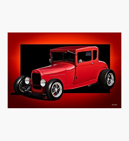 1928 Ford Coupe 'Perfection in Red' I Photographic Print