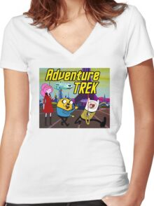 Adventure Trek! Women's Fitted V-Neck T-Shirt