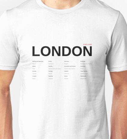 London England - Typographic Art Unisex T-Shirt