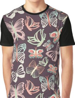 Seamless vector pattern with butterflies Graphic T-Shirt