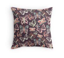 Seamless vector pattern with butterflies Throw Pillow
