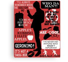 Doctor Who - 11th Doctor Quotes Canvas Print