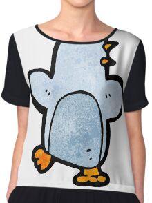 cartoon penguin Chiffon Top