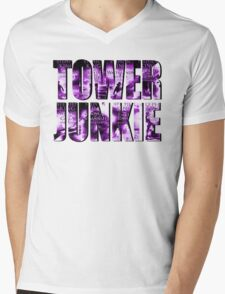 Tower Junkie Mens V-Neck T-Shirt