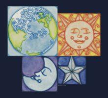 Earth Sun Moon Star Baby Tee