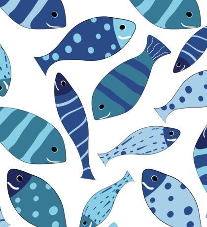 Seamless vector pattern of fish Sticker