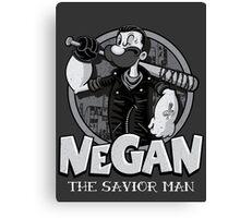 Negan The Savior Man Old Canvas Print