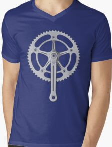 Campagnolo Track Chainset, 1974 Mens V-Neck T-Shirt