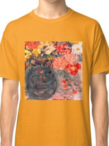 Flowers in Slate Vase Classic T-Shirt