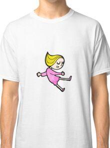 happy blond girl cartoon Classic T-Shirt