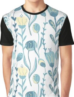 Elegant seamless pattern with flowers, vector illustration Graphic T-Shirt