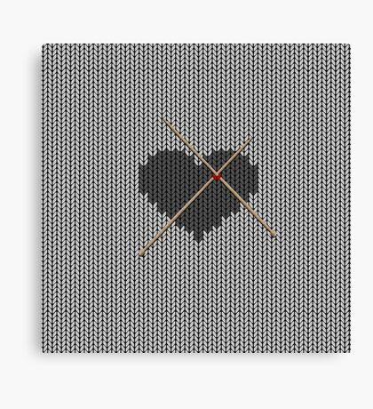 Original Knitted Heart Design  Canvas Print