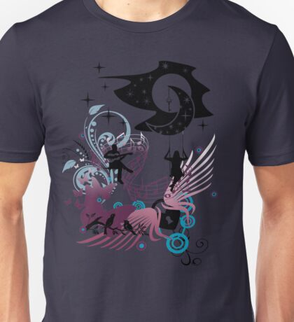 Music Love Story Under The Moon And Stars Unisex T-Shirt