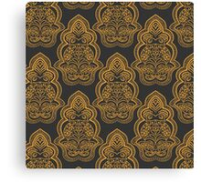 Floral pattern background with indian ornament Canvas Print