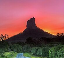 The Road to Mt Coonowrin - Glasshouse Mountains Qld Australia by Beth  Wode