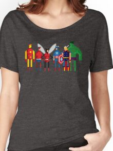8-bit Marvelous Avenging Heroes Women's Relaxed Fit T-Shirt
