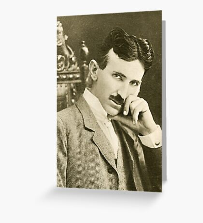 Nikola Tesla, Serbian-American Inventor Greeting Card