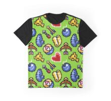 Legend of Zelda A Link to the Past / items 2 / pattern / green venus Graphic T-Shirt