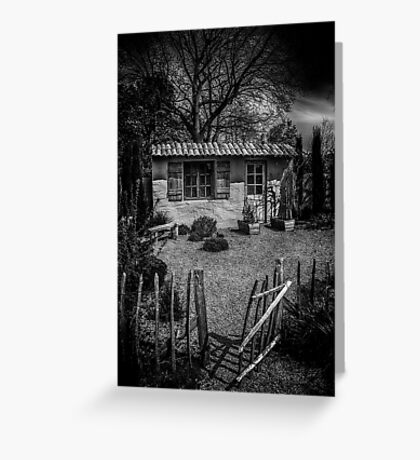 Le Jardin de Vincent Black and White Greeting Card