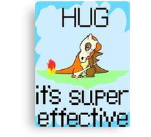 Hug is Super Effective Canvas Print