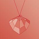 Heart on a String / Geometric Heart by Kelsorian