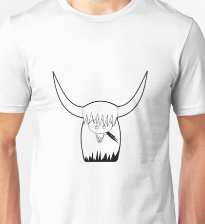 Dexter Skyhook coo Black outline Unisex T-Shirt