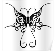 Tribal butterfly tattoo Poster
