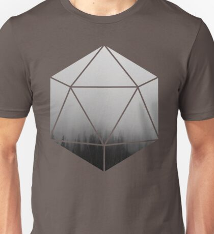 D20 - Foggy Trees Unisex T-Shirt