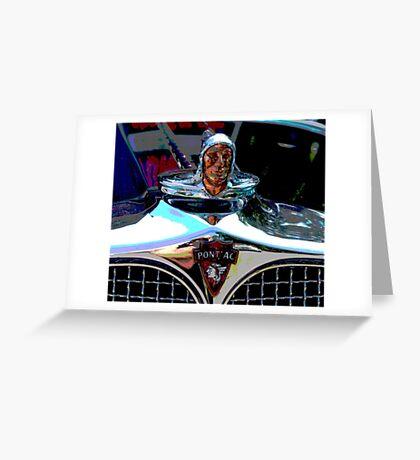 Pontiac Indian Chief Hood Ornament Greeting Card
