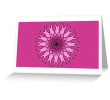 Bachelor Buttons Pink Flowers Greeting Card