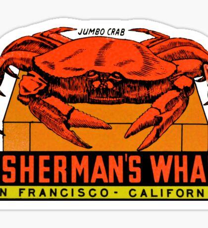 Fisherman's Wharf San Francisco Vintage Travel Decal Sticker