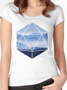 D20 - Misty Mountains Women's Fitted Scoop T-Shirt