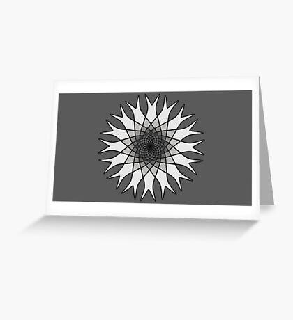 Grey Flower Black and White Greeting Card