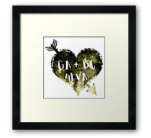 Green Arrow and Black Canary Forever Framed Print