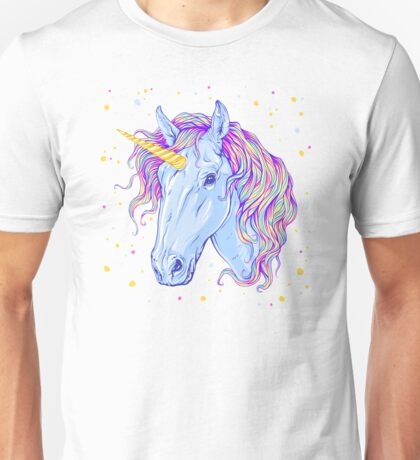 Cute Fabulous Unicorn Unisex T-Shirt