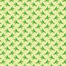 Green Pterodactyl Pattern by SaradaBoru