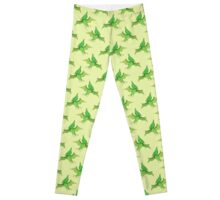 Green Pterodactyl Pattern Leggings