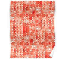 Magical texture : red triangles Poster
