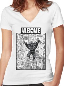 From Above Comic Book 05 Women's Fitted V-Neck T-Shirt
