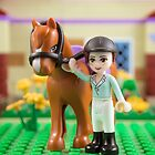 Mia with her horse by Addison