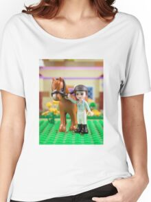 Mia with her horse Women's Relaxed Fit T-Shirt