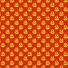 Happy Jack O Lantern Orange Pattern by SaradaBoru