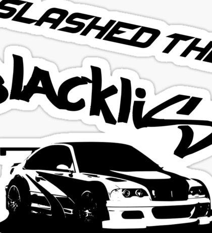 Slashed the Blacklist Sticker