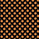 Orange Fruit Black Pattern by SaradaBoru