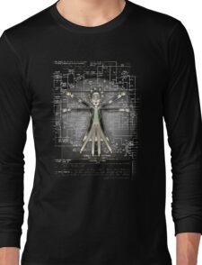 Vitruvian Rick Long Sleeve T-Shirt