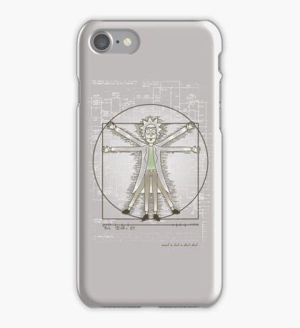 Vitruvian Rick iPhone Case/Skin
