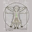 Vitruvian Rick by CoDdesigns